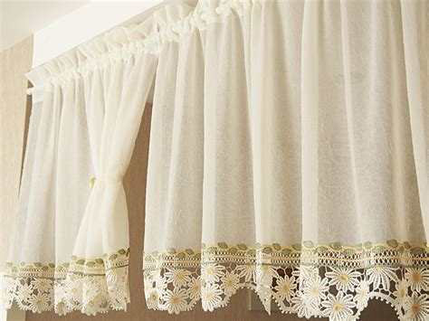 daisy kitchen curtains 70x130cm american water soluble embroidery kitchen curtain