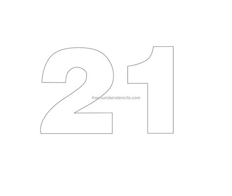 number stencil templates free helvetica 21 number stencil freenumberstencils