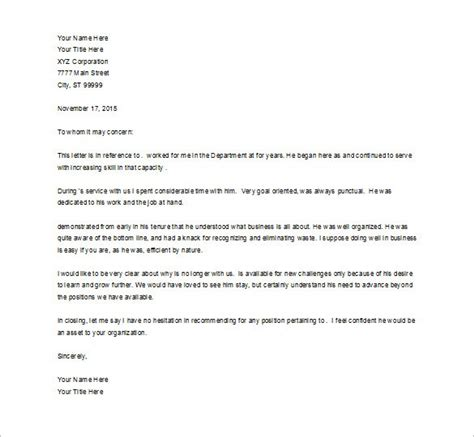 Excellent Reference Letter From Employer sle of recommendation letter from previous employer tomyumtumweb