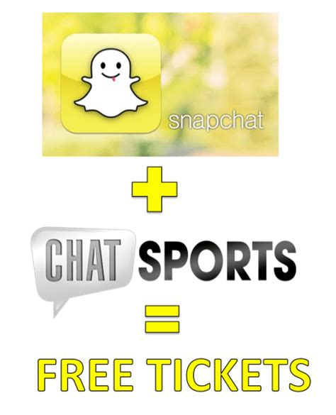 Snapchat Giveaway - chat sports embraces snapchat with ticket giveaway contest