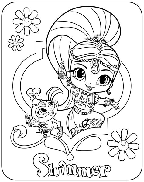 shimmer and shine coloring pages nick jr shimmer and shine coloring pages of 2017