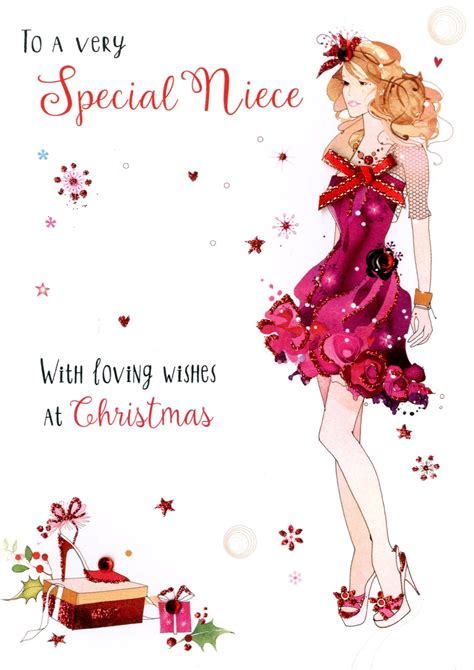 Gift Card Specials - special niece embellished christmas card cards love kates