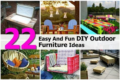 Diy Outdoor Patio Projects by 22 Easy And Diy Outdoor Furniture Ideas