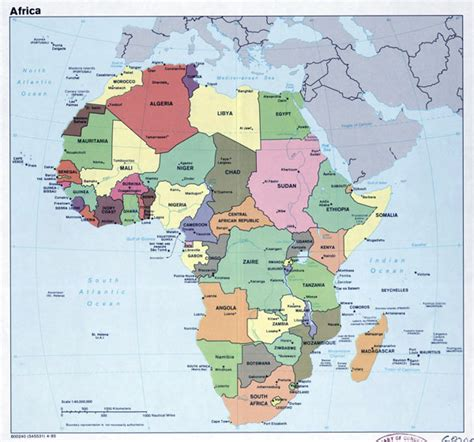 africa map major cities africa political map with capitals foto 2017