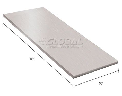 stainless steel work bench tops bench tops components tops 60 quot w x 30 quot d x 1 1 2