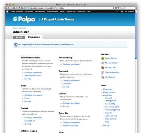 drupal themes administration polpo admin theme drupal org