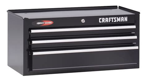 craftsman 3 drawer tool box black craftsman 12 quot 3 drawer quiet glide intermediate tool chest