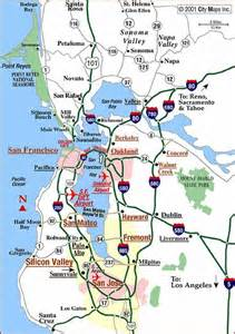 Road map of san francisco bay area san francisco california