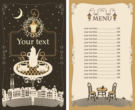 cafe menu template set of cafe and restaurant menu cover template vector 05