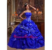 Royal Blue Quinceanera Dresses Gowns