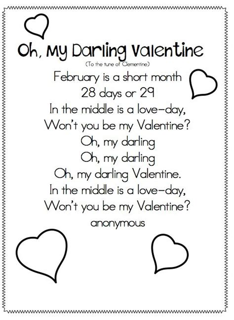 valentines day poems for kindergarten joyful learning in kc valentines poems and songs