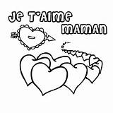 Coloriage Coeur Maman a Imprimer Gratuit