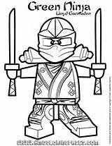 Ninjago Green Ninja Lloyd Garmadon Coloring Page