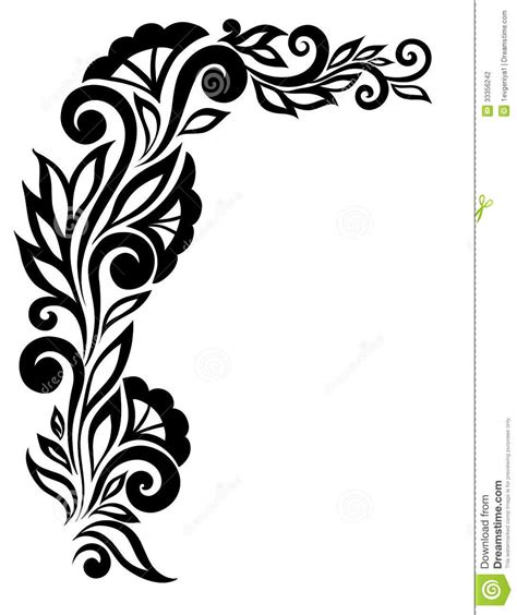 design for project flower designs black and white cliparts co