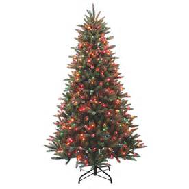 Shop holiday living 7 ft pine pre lit artificial christmas tree with