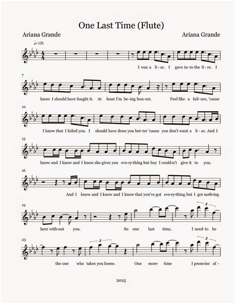 make house plã ne kostenlos flute sheet one last time sheet