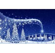 Blauwe Kerst Wallpaper  Bureaublad Achtergrondennl
