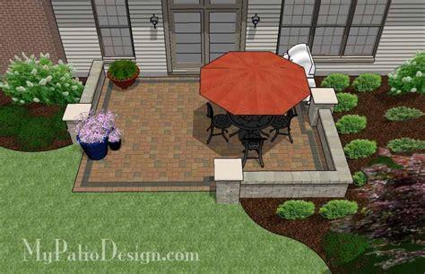 diy rectangular patio design downloadable patio plan