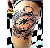 Home Compass Tattoo Design  BusBones