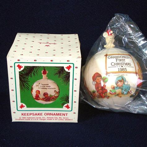 hallmark 1985 grandchild s first christmas ornament mint