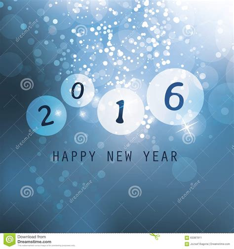 best new year card design best wishes blue abstract modern style happy new year