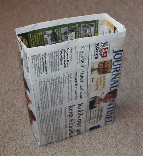 22 diy newspaper bags tutorial ideas