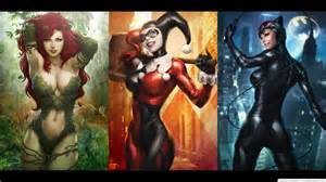 Dc Comics Harley Quinn Catwoman Poison Ivy 1366×768 #37622 HD