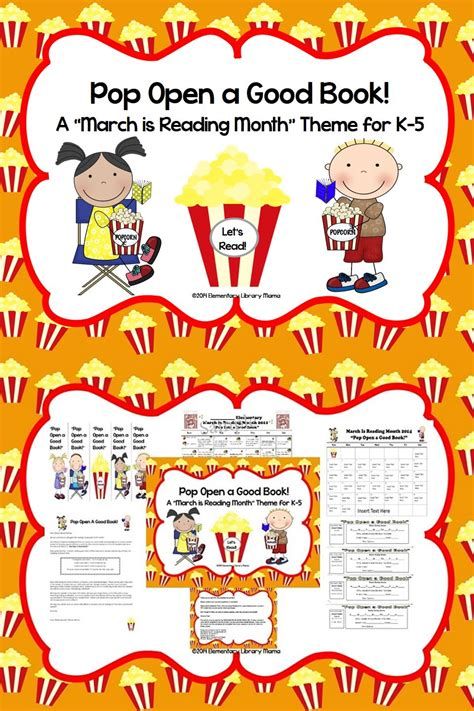 themes for march is reading month march is reading month theme quot pop open a good book quot i