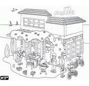 Coloriage La Maison De Playmobil En &233t&233
