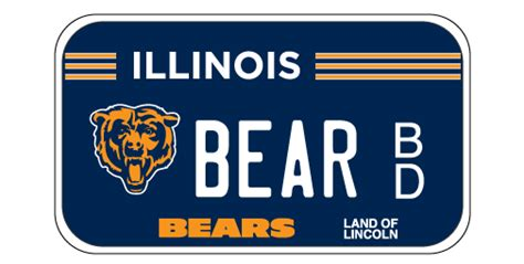 Cyberdriveillinois Vanity Plate by Chicago Bears Motorcycle License Plates