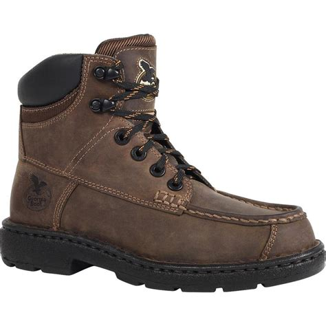 boot 6 brown leather eagle light women s