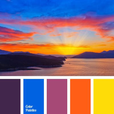 color sunset colour of aubergine color palette ideas