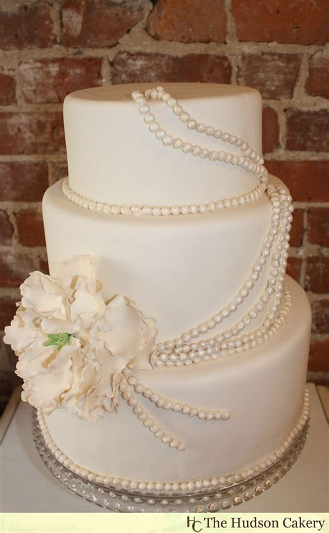 Wedding Cakes With Pearls by Sugar Peony And Pearl Cake The Hudson Cakery