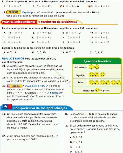 el resultado resumen de los clculos de la tabla valor posicional hasta 10 000 ejemplos de matematica 4