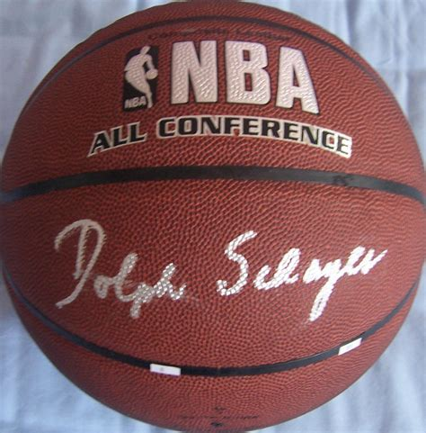 Bola Basket Spalding All Conference Indoor Outdoor dolph schayes autographed nba indoor outdoor all