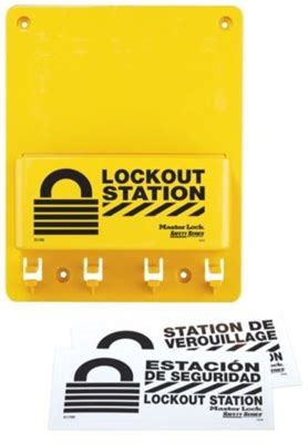 Masterlock Safety Loto S1800 Lockout Stations master lock s1700 compact lockout station