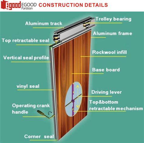 Designer Garage Door soundproof operable wall partition with doors for school