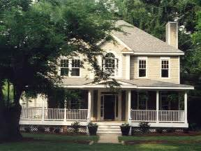 Two Story House Plans With Front Porch by House Plans And Design House Plans Two Story Porches