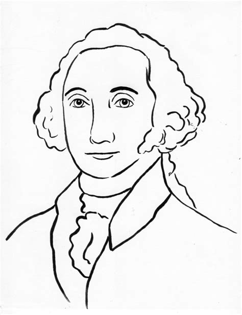 page george washington coloring coloring pages