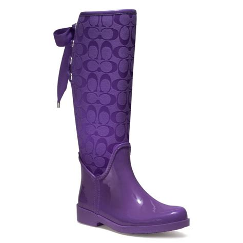 couch rain boots purple coach rain boots size 10 put it in a love song