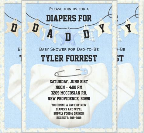 diaper invitation templates 35 free psd vector eps ai