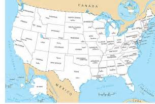 usa map with states and capital city
