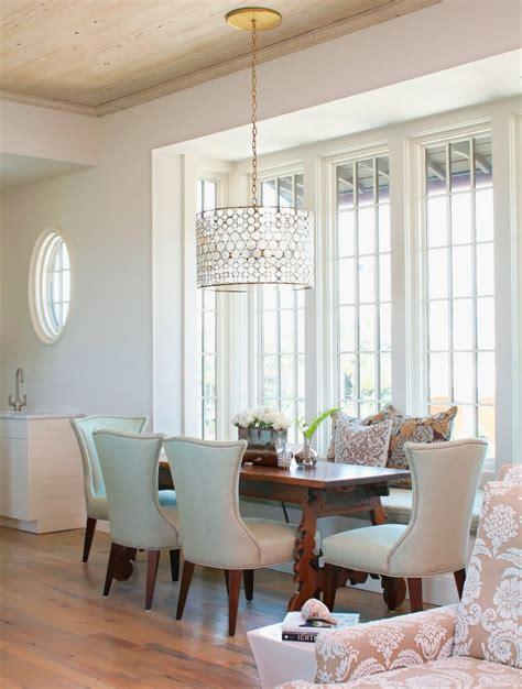 Bronze Chandelier With Crystals Drum Shade Chandelier In Different Dining Rooms To Try