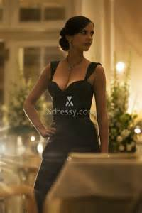 Eva green black mermaid evening dress in movie 007 casino royale