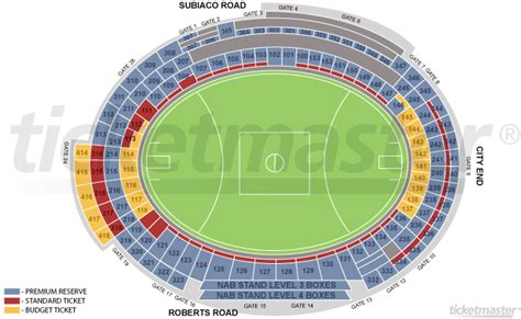 subiaco oval seating map dockers bigfooty afl forum
