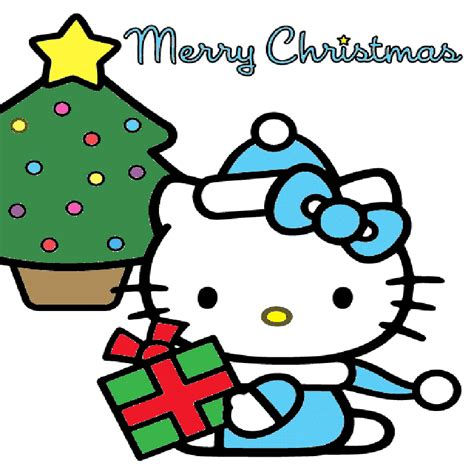 kitty christmas pictures cartoons gallery