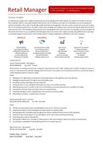 cv manager template retail manager cv template resume exles description