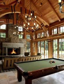 Timber Frame Home Interiors Timberframe Embeliss Amorelamaison Pinterest