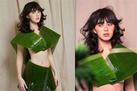 film lawas thailand hanya berbalutkan daun pisang model cantik asal thailand