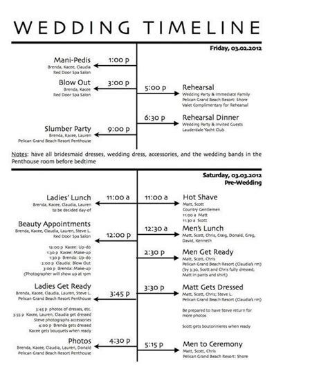 Free Wedding Day Timeline Printables Wedding Reception Timeline Color Wedding Palette Wedding Timeline Checklist Template